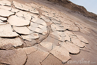 Arid cracked earth