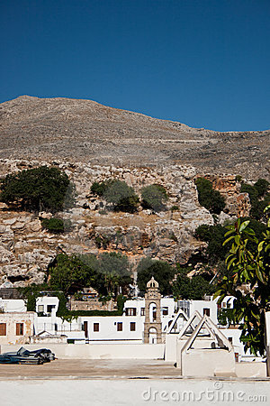 Arid lanscape in Lindos