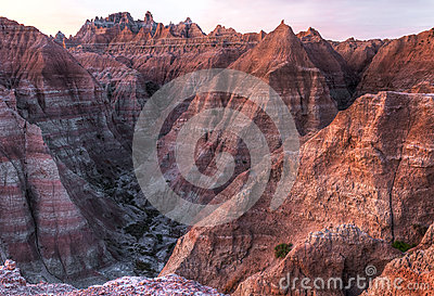 Arid Peaks of the Badlands in South Dakota