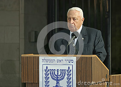 Ariel Sharon Editorial Image