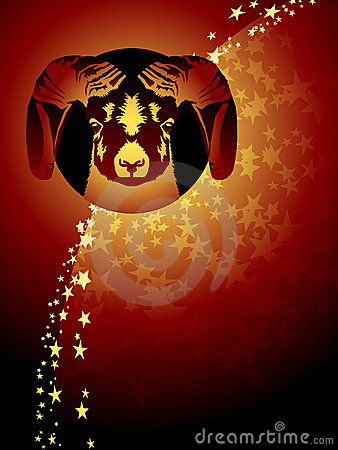 Aries zodiac background