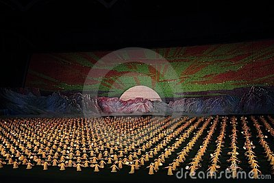 Arirang Mass Games 2011 in DPRK Editorial Photography