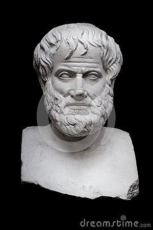 Free Aristotle On Black Royalty Free Stock Images - 42133019