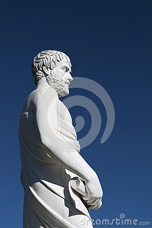 Aristotle statue at Stageira, Greece