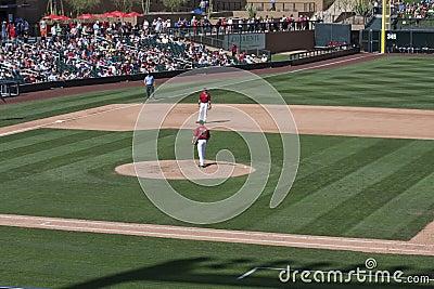 MLB Cactus League Spring Training Game Editorial Stock Image