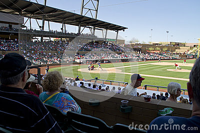 MLB Cactus League Spring Training Game Editorial Photography