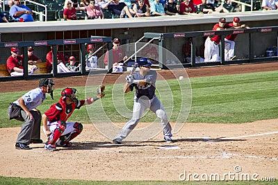 MLB Cactus League Spring Training Batter Editorial Image