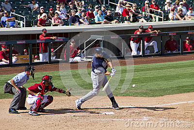 MLB Cactus League Spring Training Batter Editorial Photo