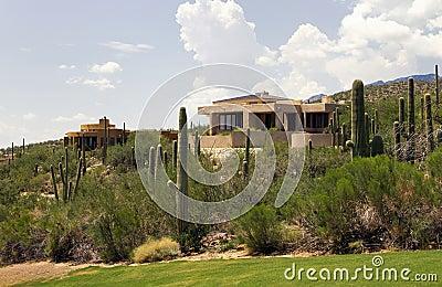 Arizona golf course scenic landscape and homes