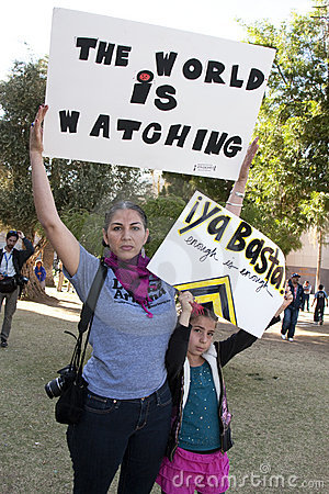 Arizona Immigration Law SB 1070 Protest Editorial Photo