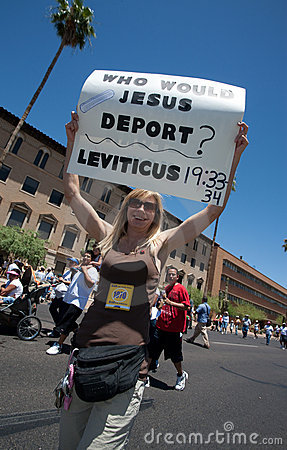 Arizona Immigration SB1070 Protest Rally Editorial Stock Photo
