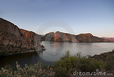 Arizona Lake at sunset