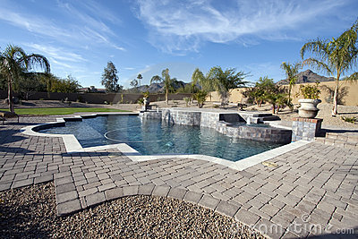 Arizona mansion pool and patio