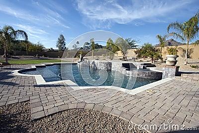 Arizona mansion pool and patio