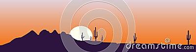 Arizona skyline at the sunset