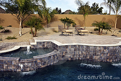 Arizona swimming pool with patio