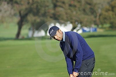 Arjun Atwal 2012 Farmers Insurance Open Editorial Stock Image