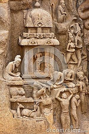 Arjuna s Penance Bas-Relief