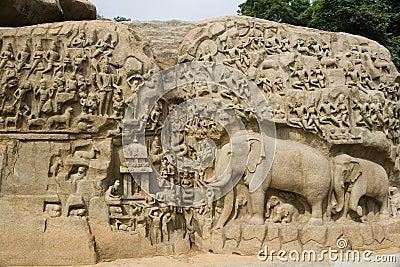 Arjunas Penance - Mamallapuram - India