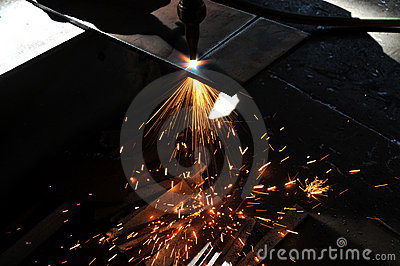 Ark för cuttinggasmetall