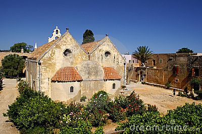 Arkadiou monastery at Crete, Greece