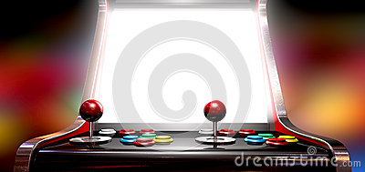 Arkady gra Z Iluminującym ekranem