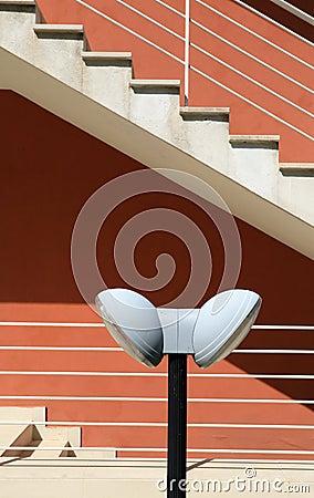 Arkitektonisk detalj av en modern byggnad