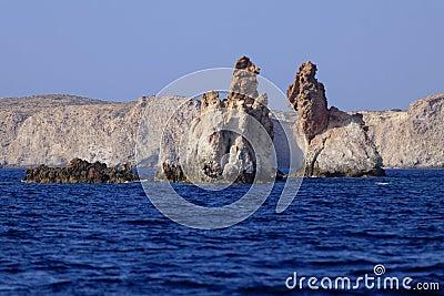 Arkoudes rock formations