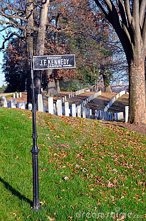Arlington  Cemetery, Kennedy gravestone sign
