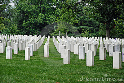 Arlington National Cemetery in Washington DC Editorial Stock Photo