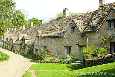 Arlington Row Cottages, Bibury, Cotswolds, England