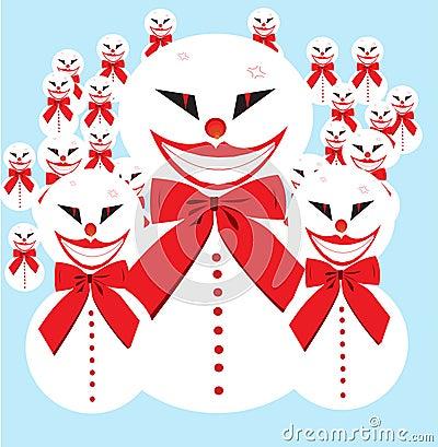 Armée de bonhomme de neige