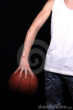 Arm and basketball