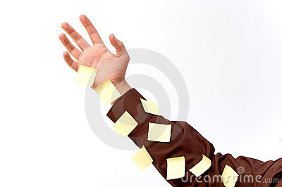 Arm with stickies