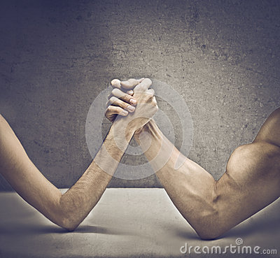 Free Arm Wrestling Stock Photography - 25217992