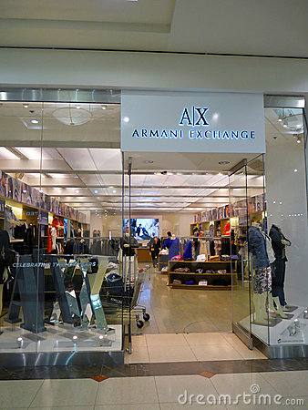 Armani Exchange Retail Outlet Editorial Photography