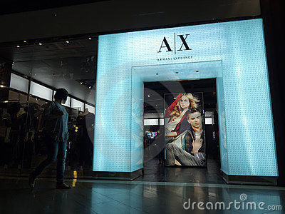 Armani Exchange retail store Editorial Stock Image