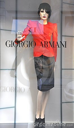 Armani women fashion shop in Italy  Editorial Stock Image