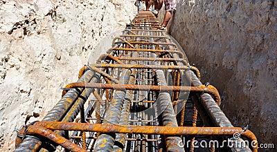 Armature foundation beam