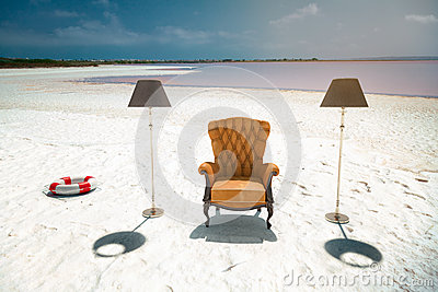 Armchair on the beach