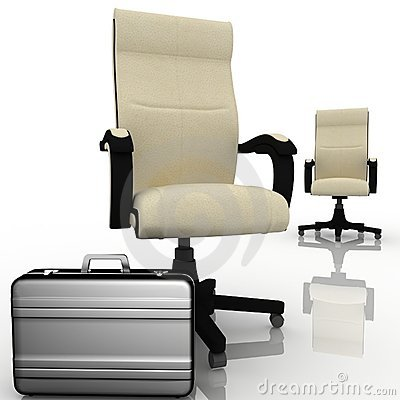 Armchair and briefcase
