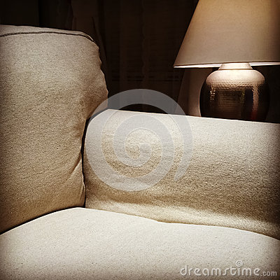 Armchair and cozy lamp