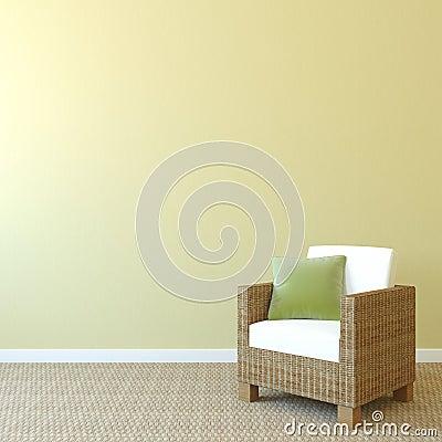 Free Armchair Near Empty Wall. Royalty Free Stock Photo - 27039575