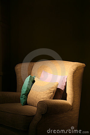 Armchair and pillows