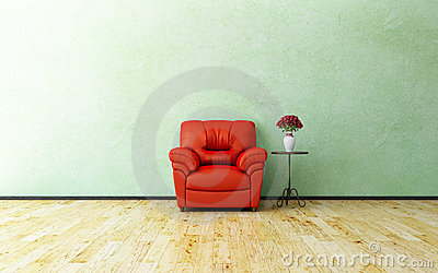 Armchair and roses