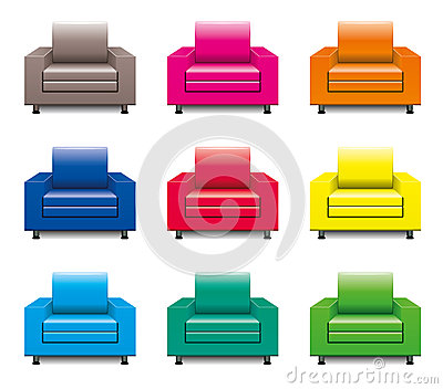 vector armchair set