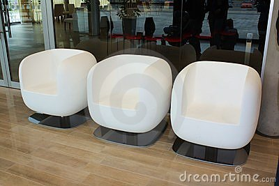 Armchairs in office lobby