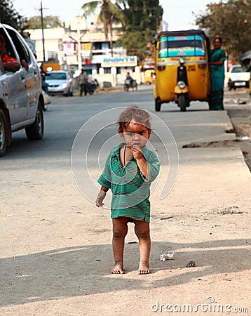 Arme Kinder in Indien Redaktionelles Stockbild
