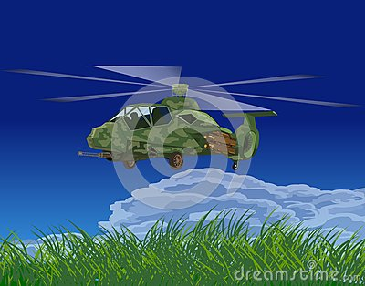 Armed helicopters-illustration