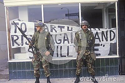 Armed National Guardsmen Editorial Image